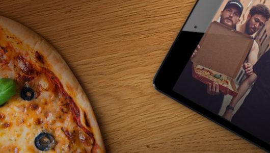 Få gratis pizza hos Comeon