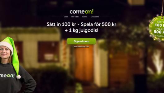 Få 1KG Julgodis hos ComeOn