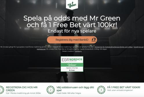 Mr Green Recension 2020 » Sport och generösa odds hos Mr Green 2020. Vi har kontrollerat och accepterat denna sida för Svenska spelare noga!