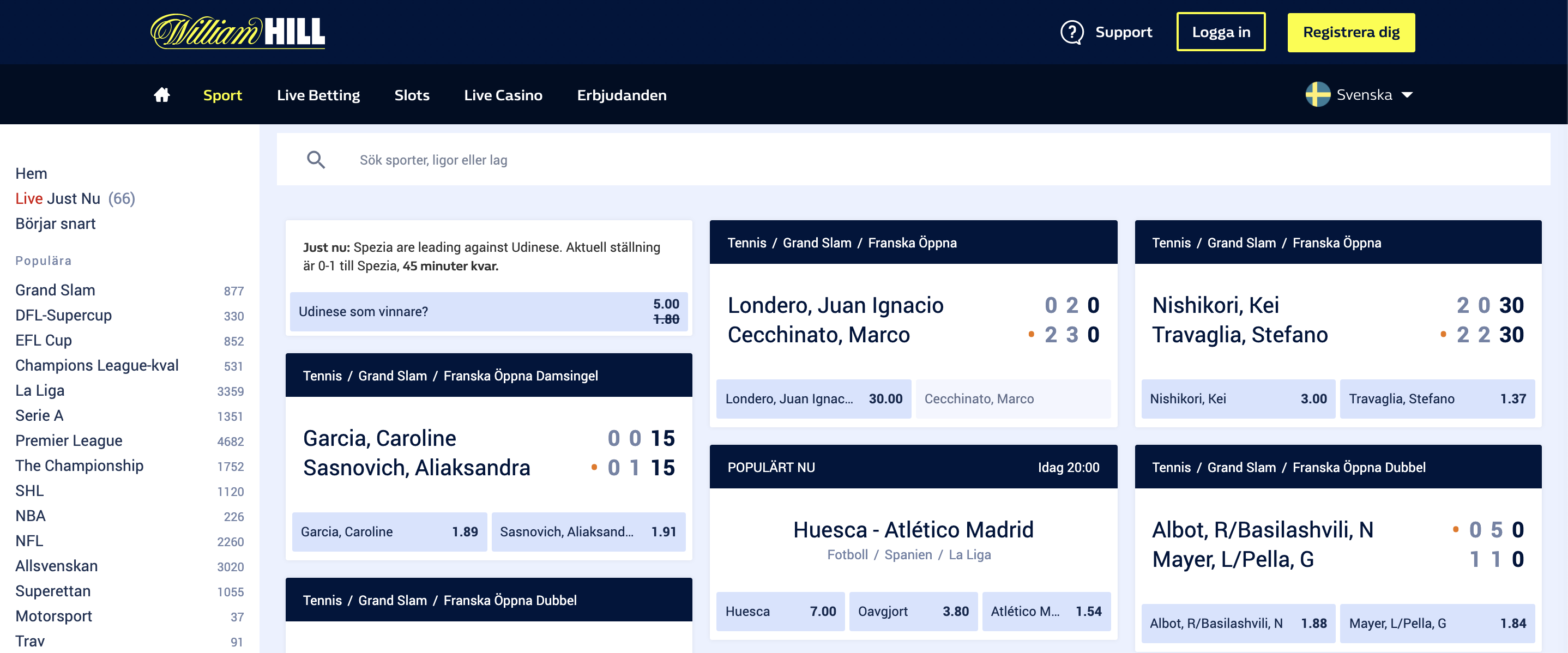 odds hos william hill