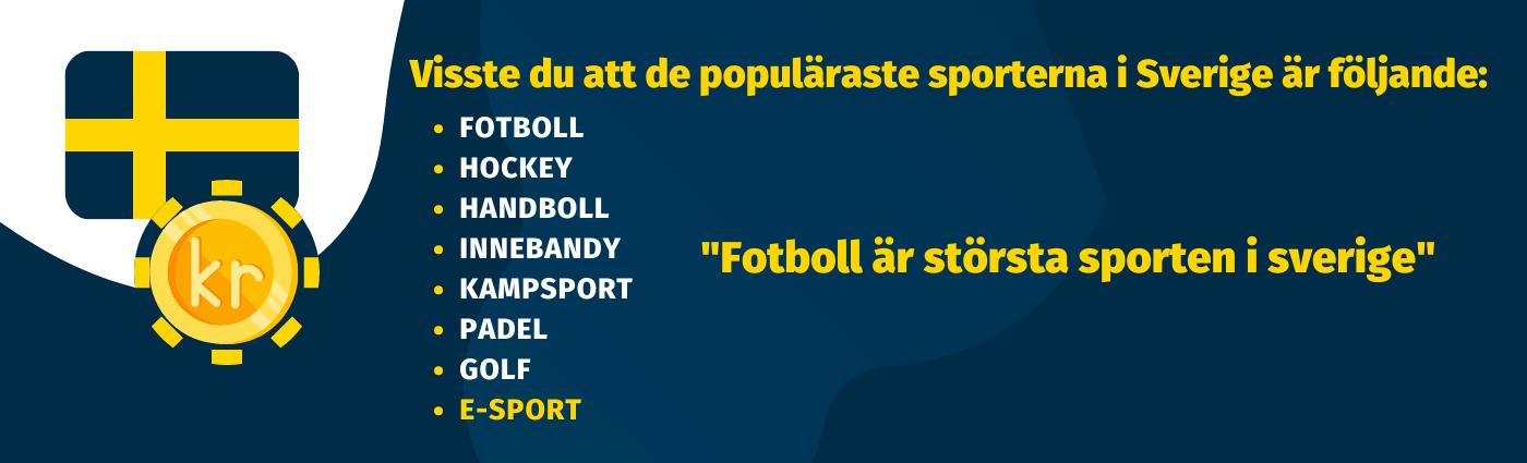 Sveriges populäraste sporter