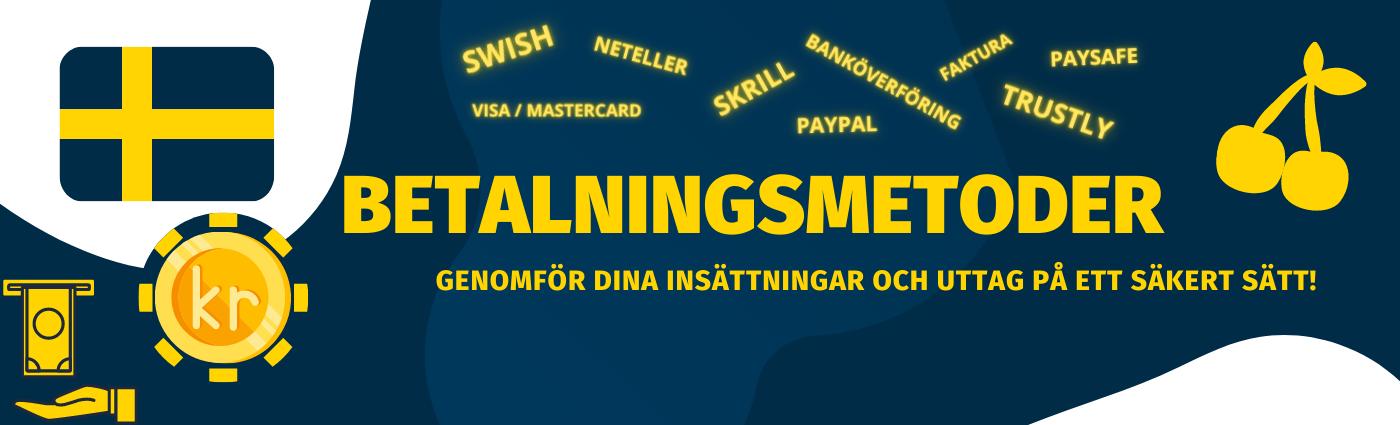 Betalningsmetoder hos spelbolag 2021. De bästa betalningsalternativ. Läs mer om olika betalsätt online för Svenska spelare att betala online!