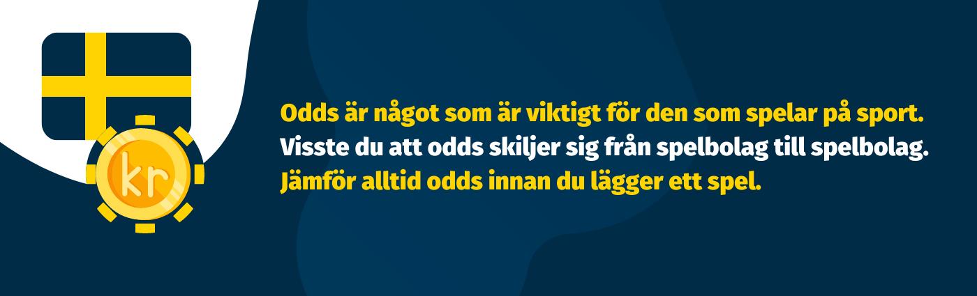 Jämför odds hos bettingsajter för Svenska spelare