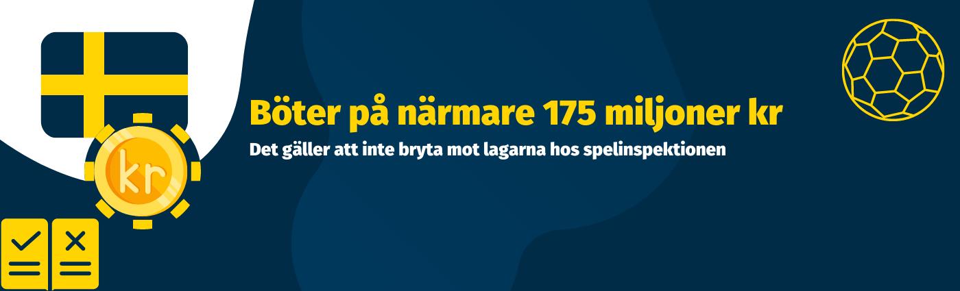 Comeon Group utdelas en sanktionsavgift på 175 miljoner svenska kronor
