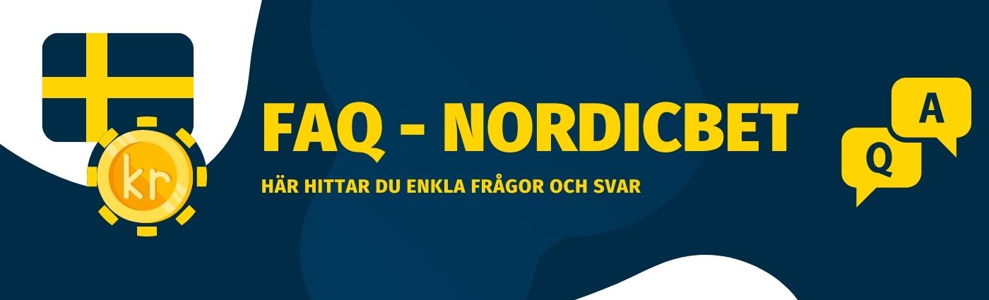 Förklarat vanliga frågor och svar hos Nordicbet